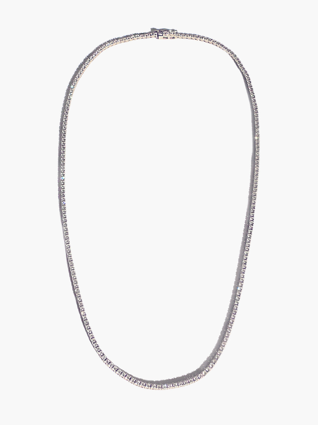 Diamond Eternity Necklace | White Gold