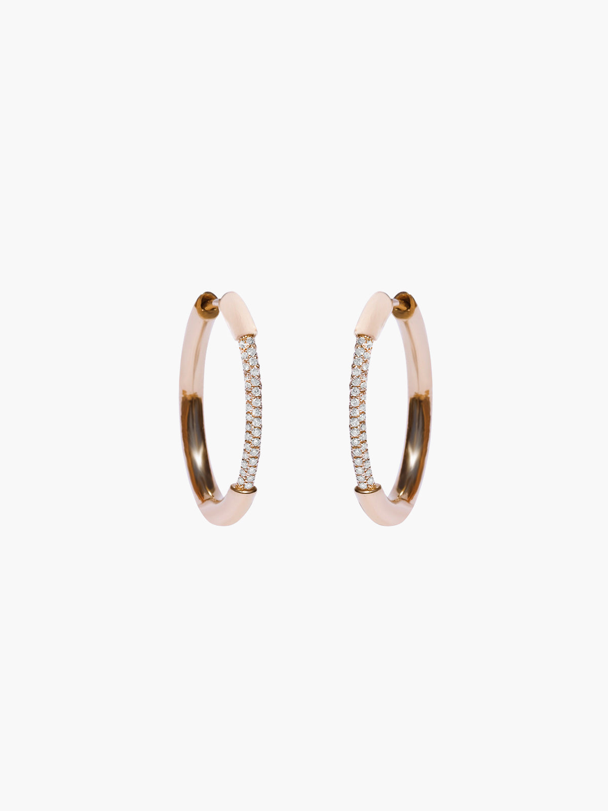 Grande Cerre Hoops | Rose Gold