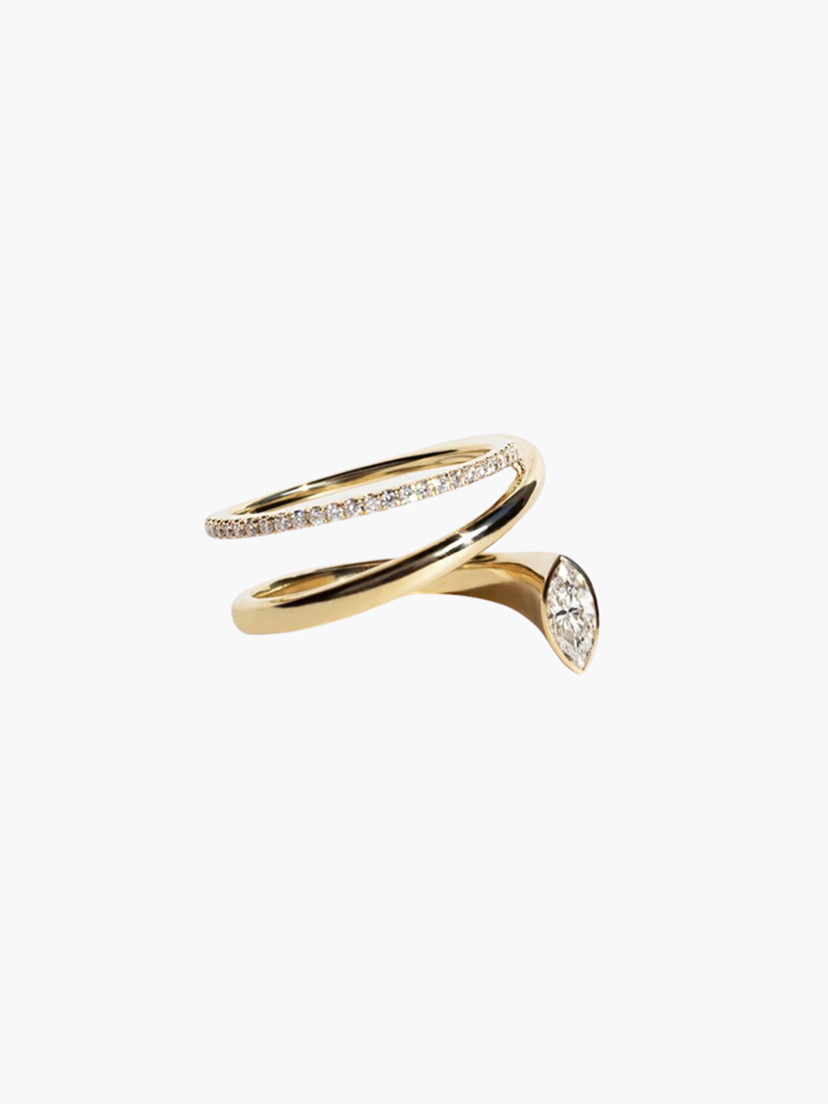 Marquise Flare Ring | 18K Yellow Gold