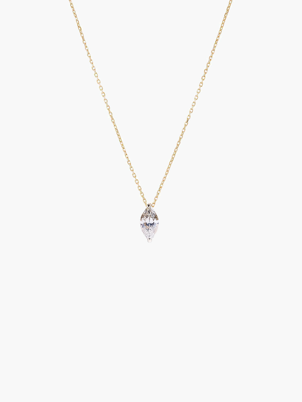Mini Marquise Diamond Necklace | Yellow Gold Mini Marquise Diamond Necklace | Yellow Gold