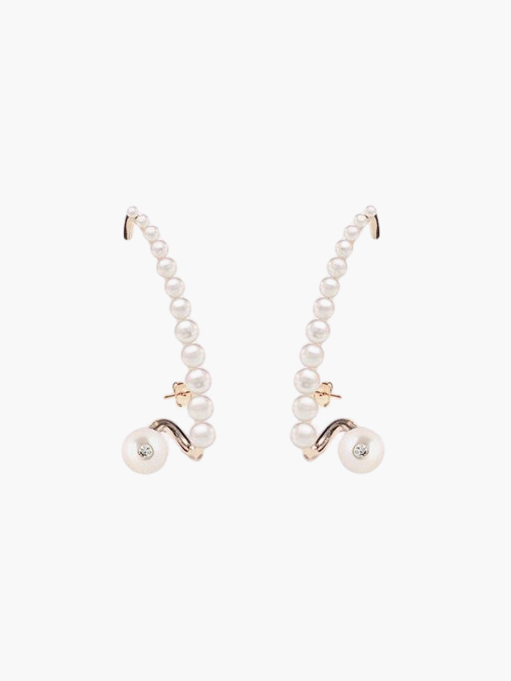 Pearl Crescendo Earring | 18K Rose Gold