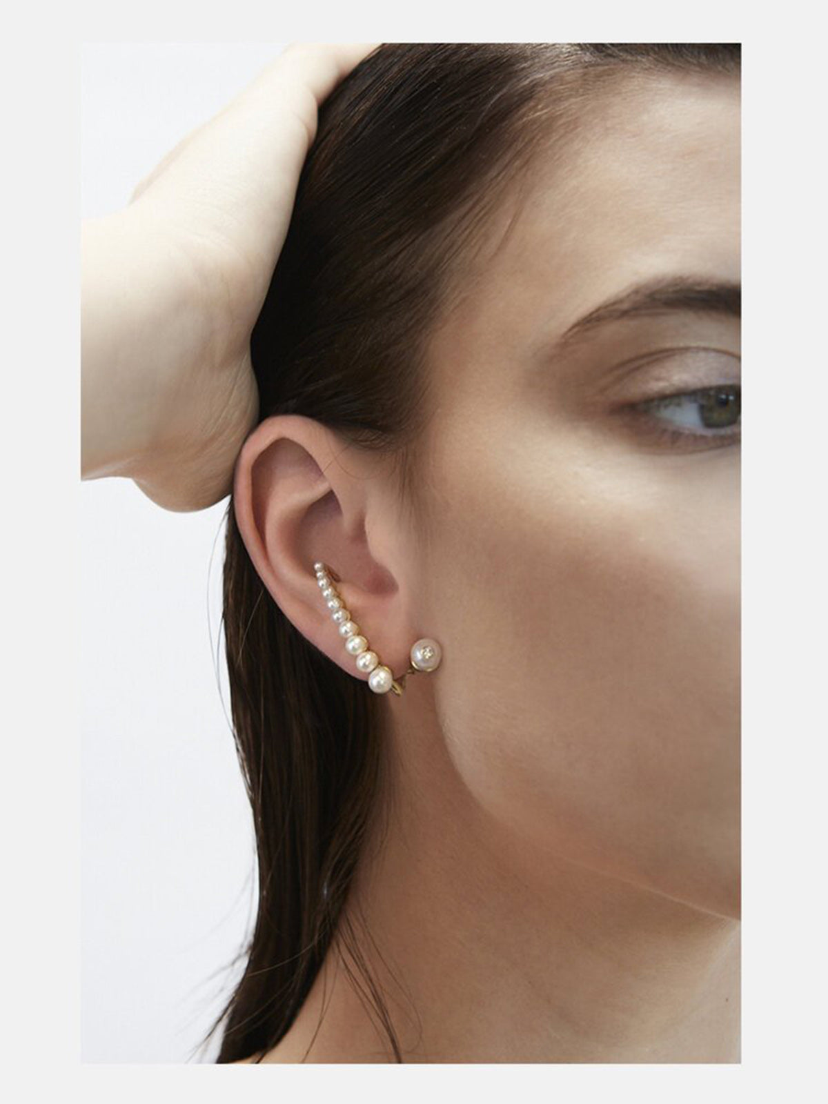 Pearl Crescendo Earring | 18K Rose Gold Pearl Crescendo Earring | 18K Rose Gold