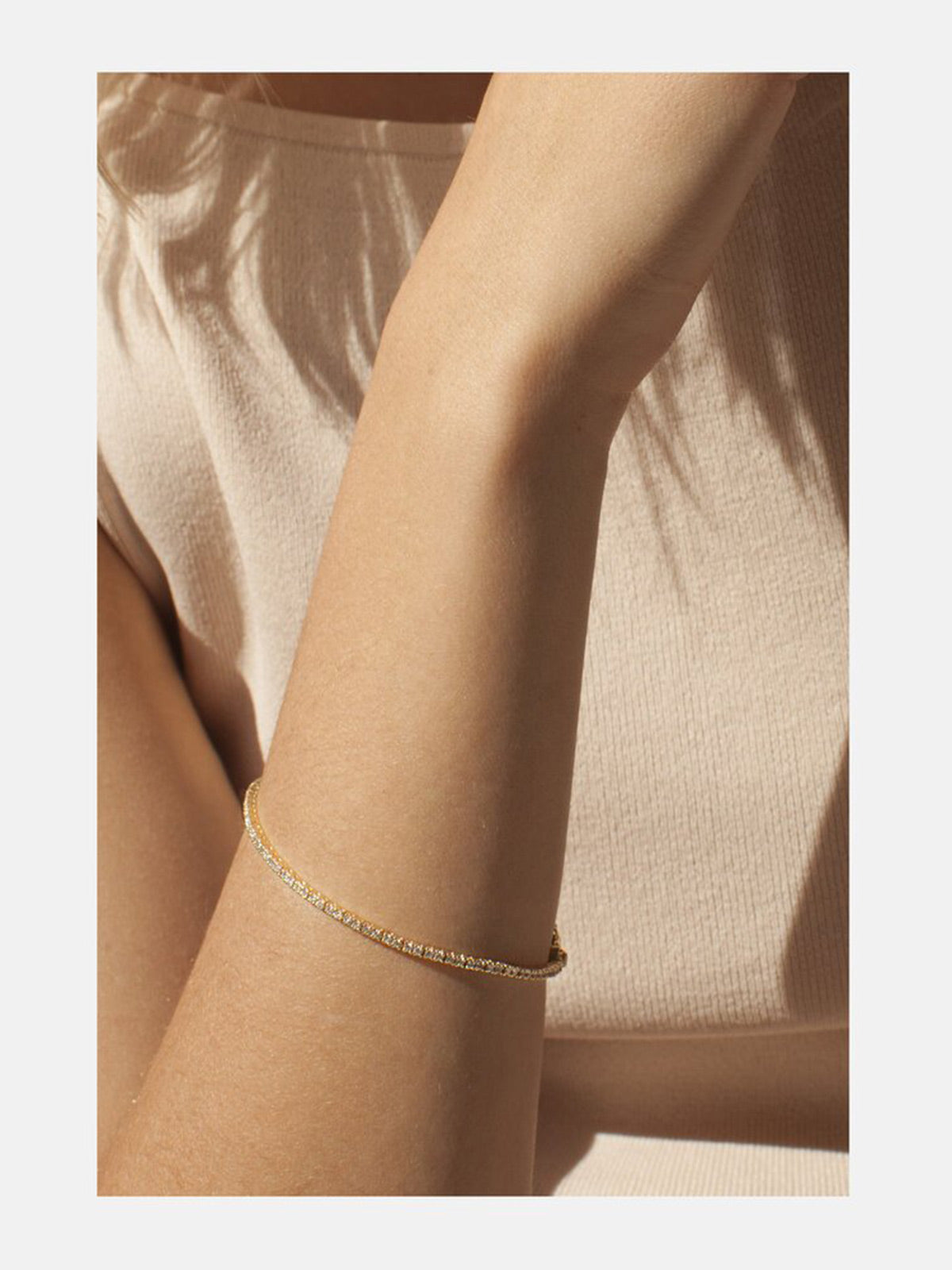 Petite Diamond Eternity Bracelet | Yellow Gold