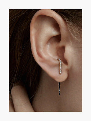 B&W Petite Ear Pin | 18K White Gold B&W Petite Ear Pin | 18K White Gold