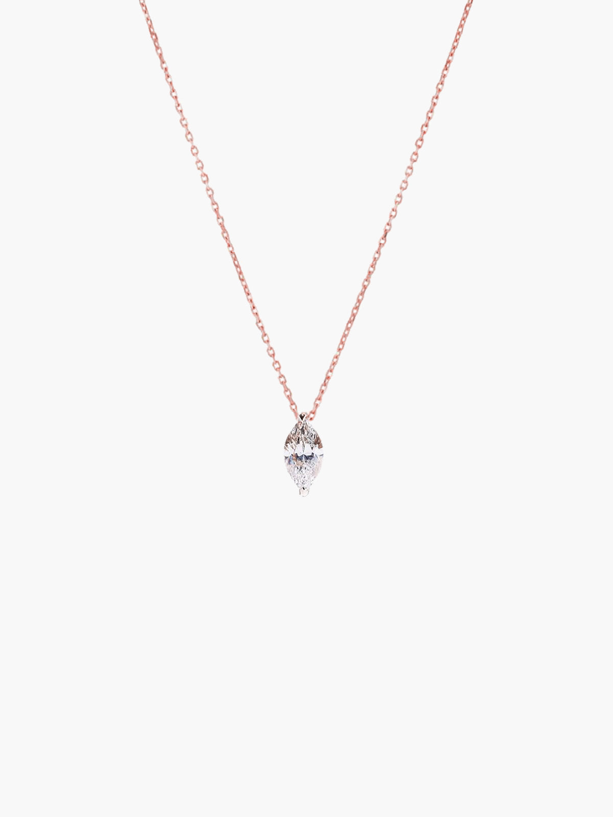 Éternal Marquise Diamond Necklace | Rose Gold