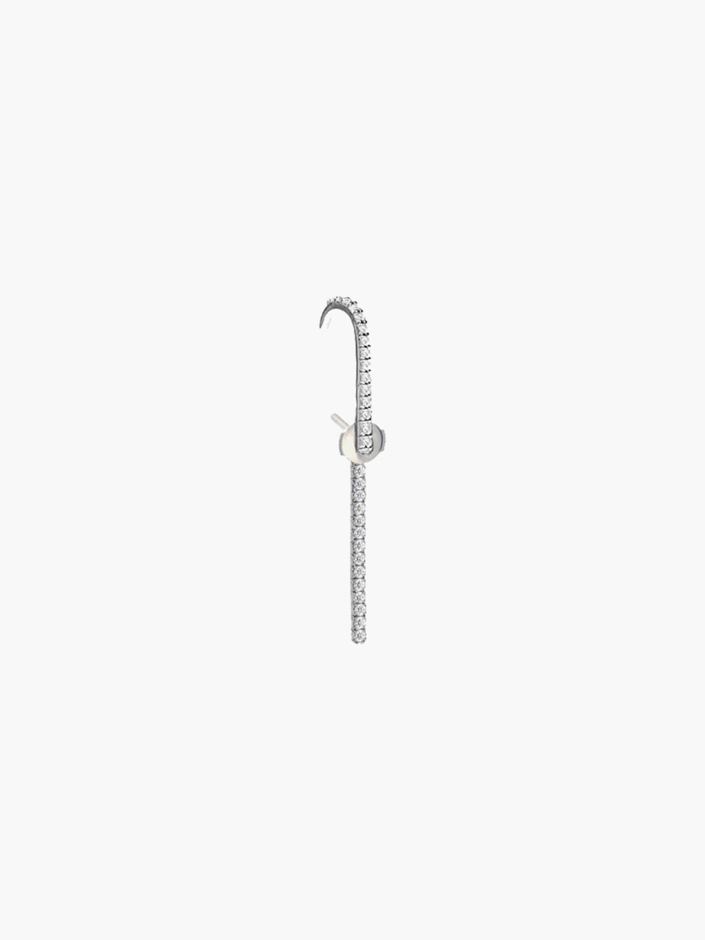 The Petite Ear Pin Diamonds | 18K White Gold