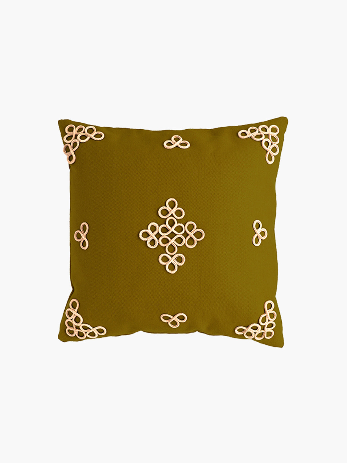 Trebol Linen Cushion | Moss Green