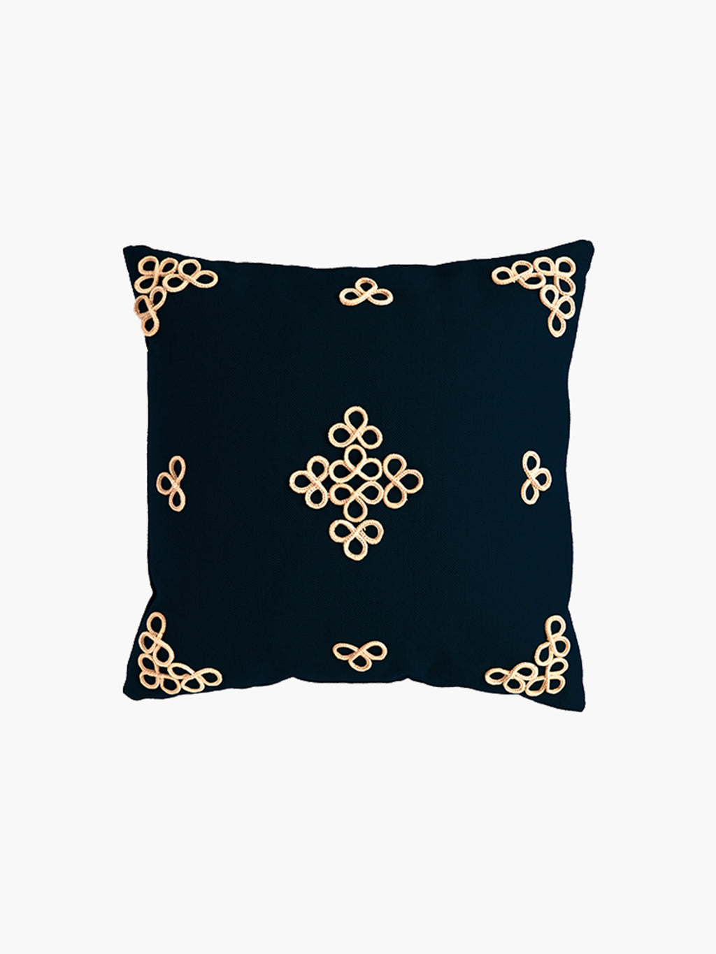 Trebol Linen Cushion | Navy
