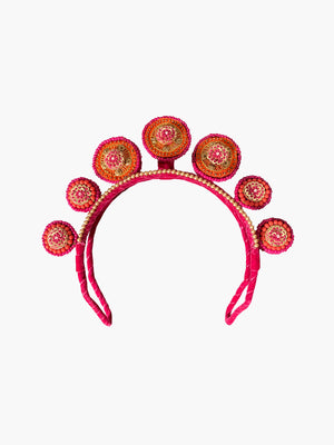 Concentric Circles Headpiece | Fuchsia and Orange Concentric Circles Headpiece | Fuchsia and Orange