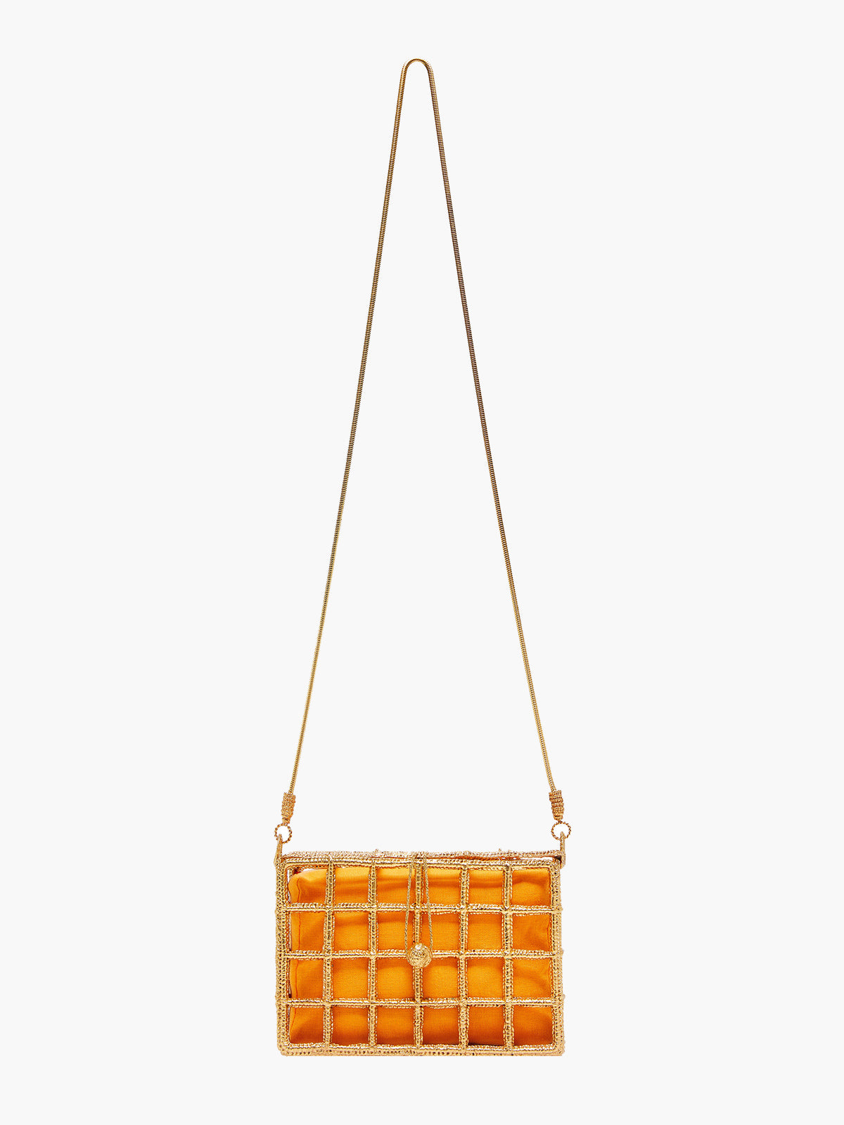 Damero Rectangular Cage Bag