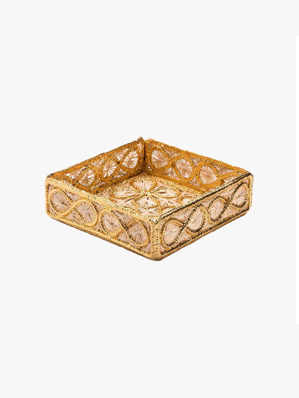Floral Small Square Tray