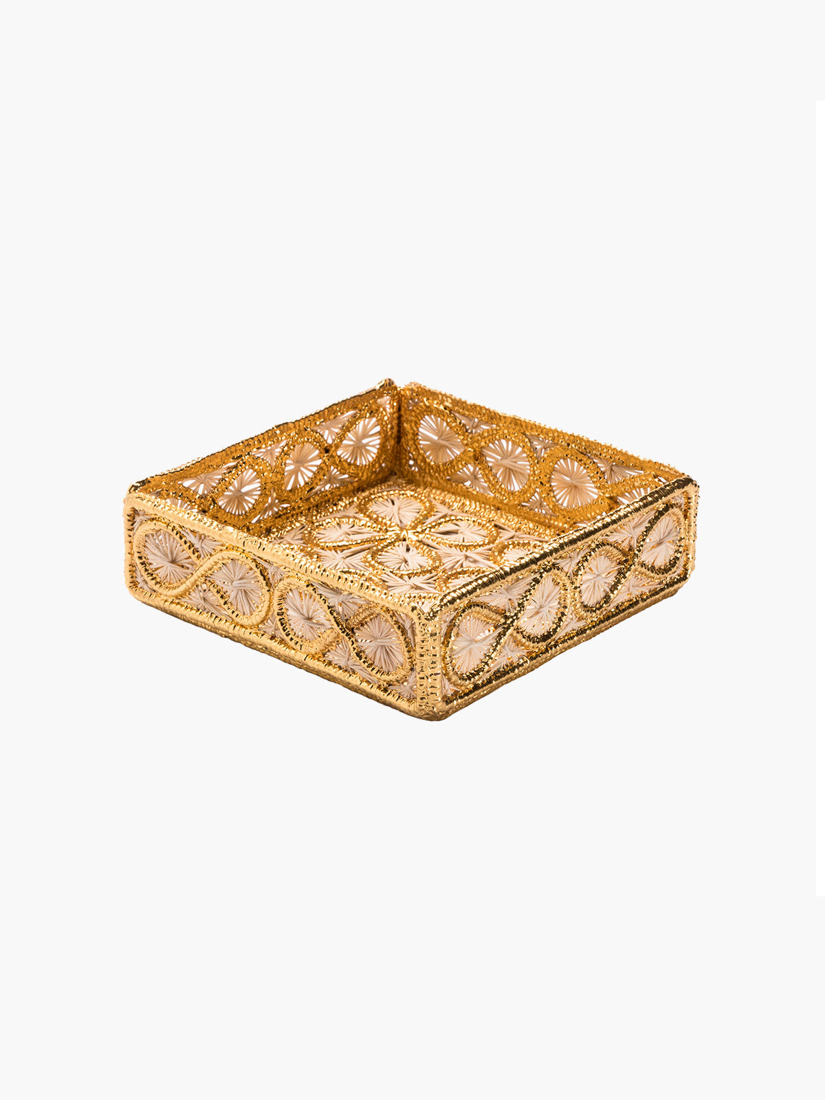 Floral Small Square Tray Floral Small Square Tray