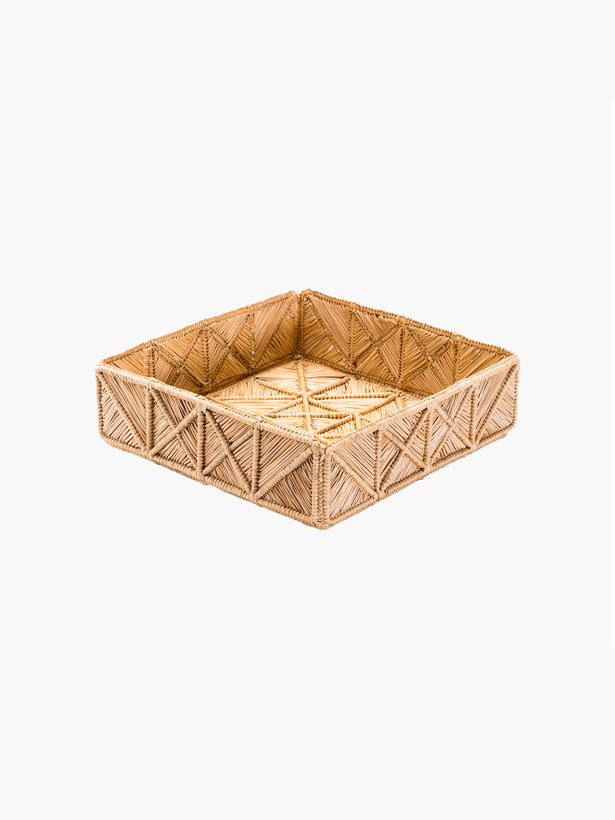 Geometric Medium Square Tray