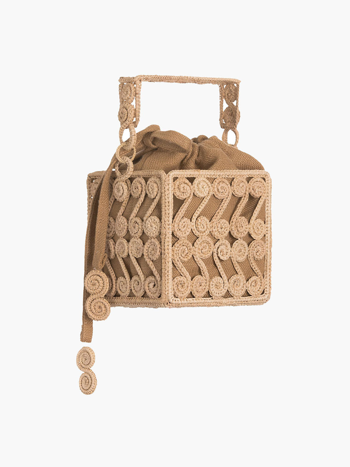 Spiral Scroll Square Bag