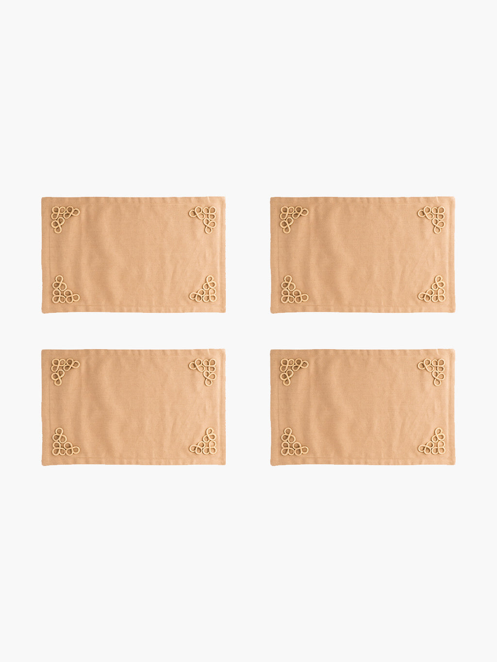 Trebol Placemats Set  of 4 | Arena