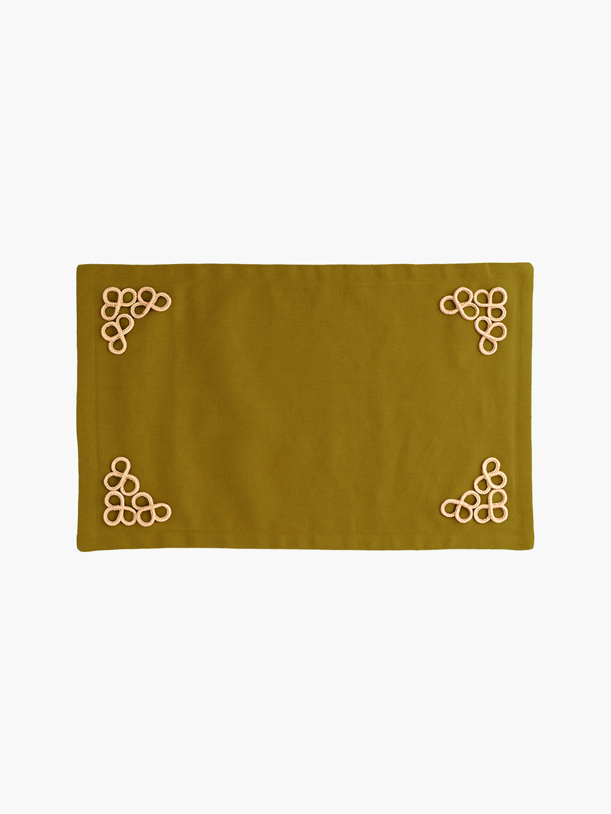 Trebol Placemats Set  of 4 | Moss Green