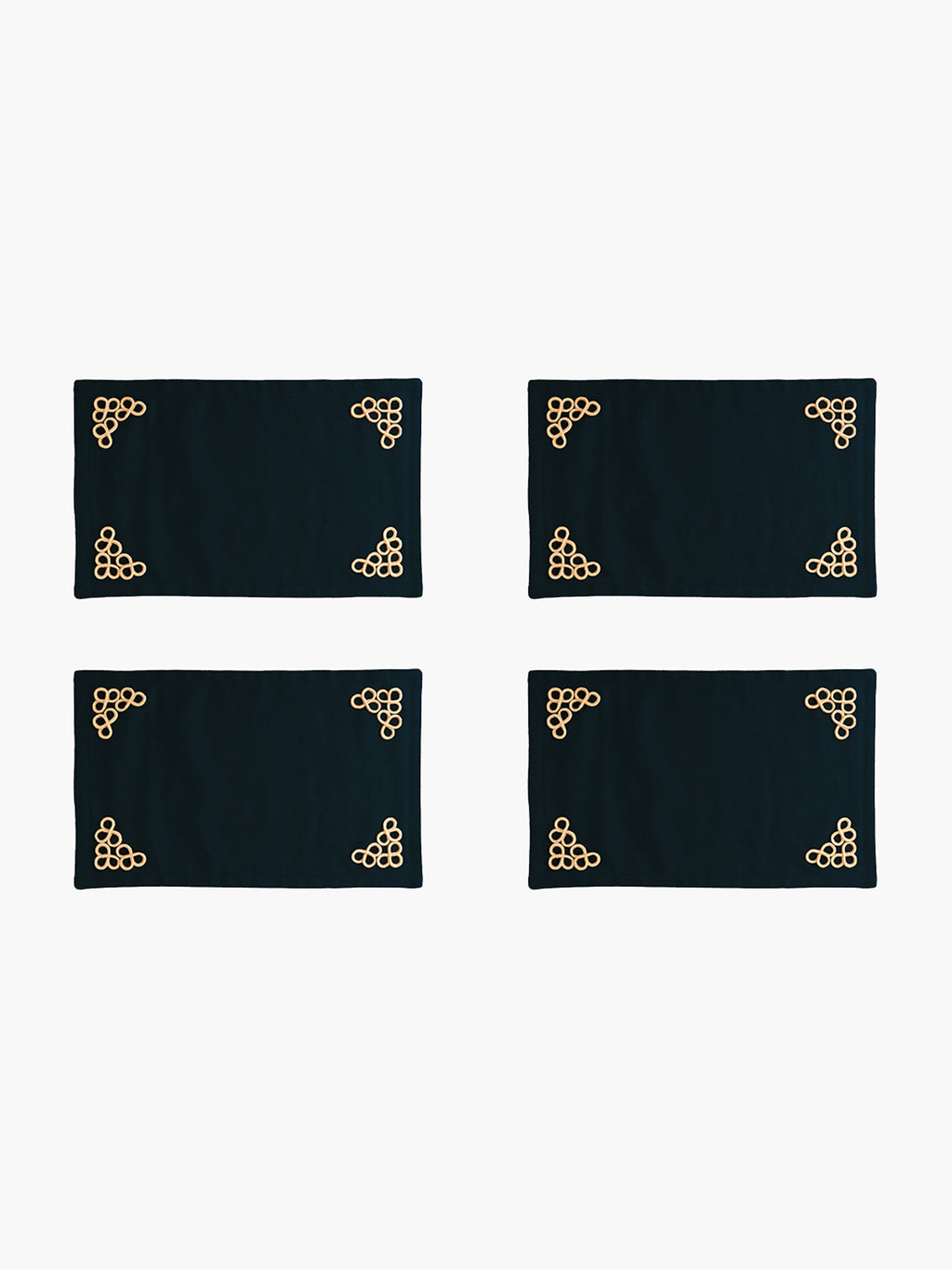Trebol Placemats Set  of 4 | Navy