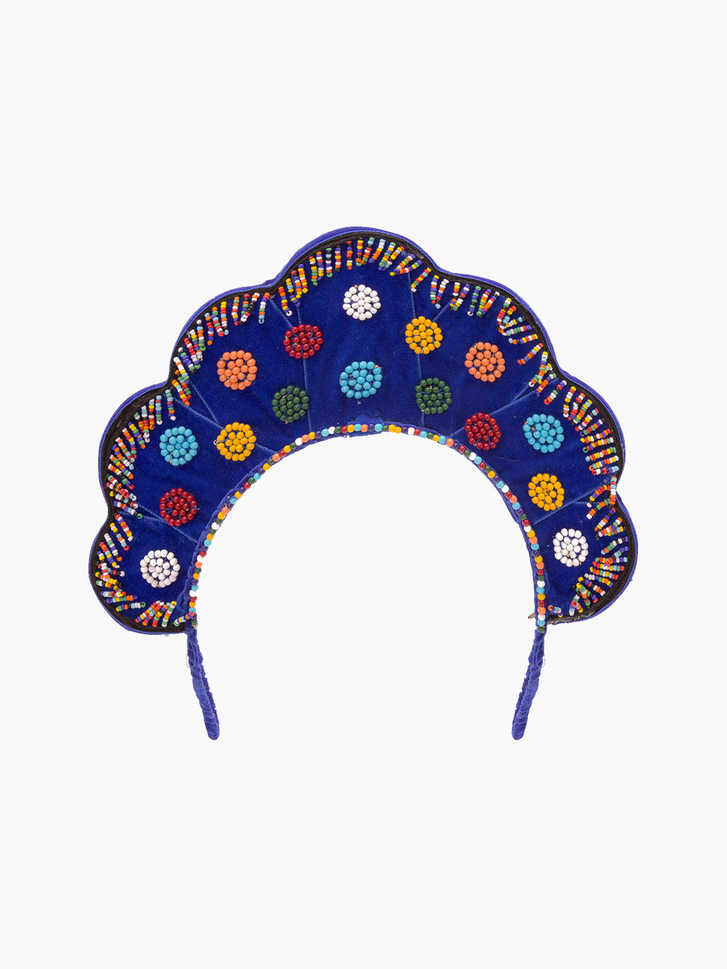 Velvet Multicolor Beaded Headpiece