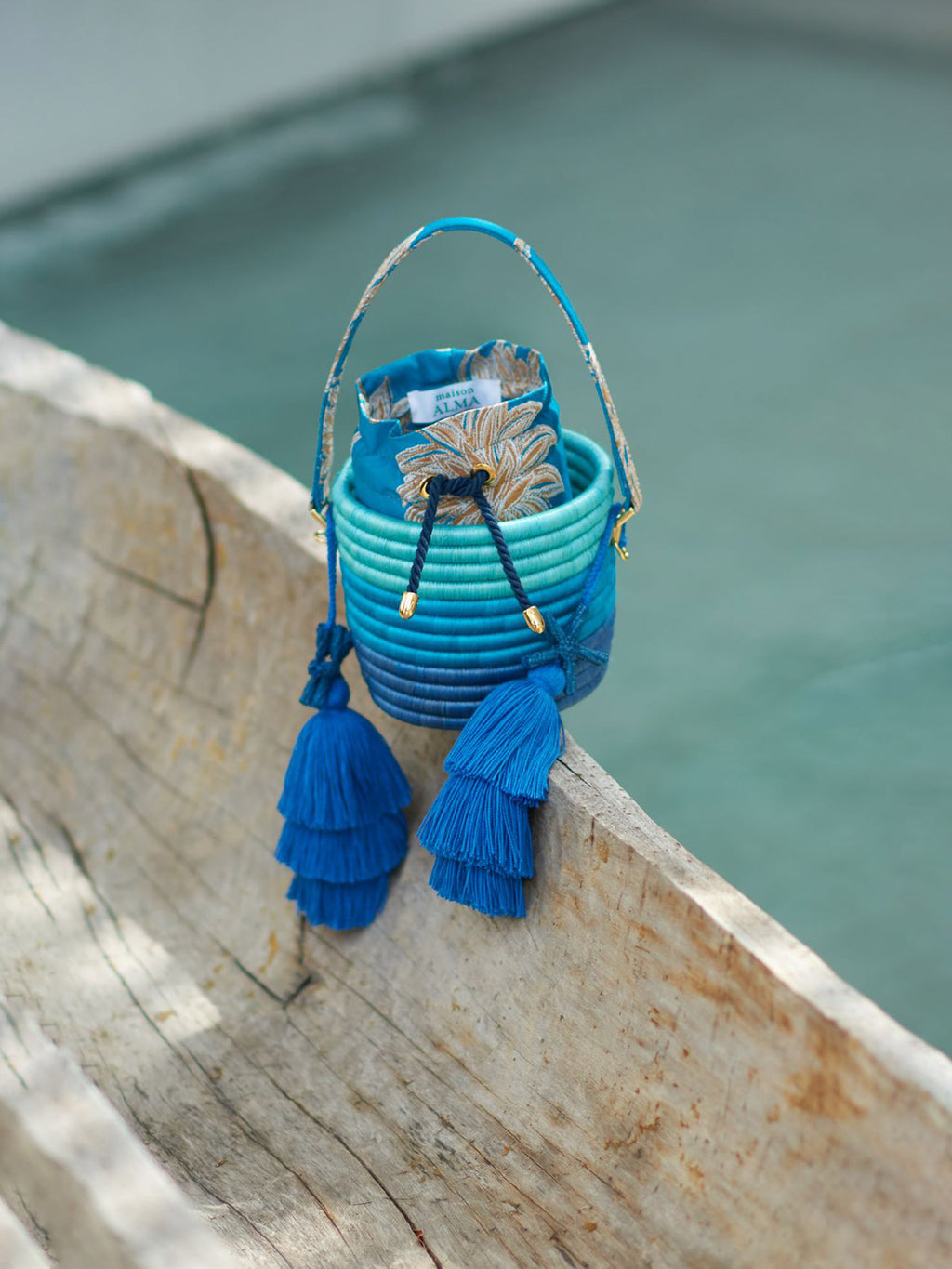 Bucket Bag | Hojarasca Blue Degrade