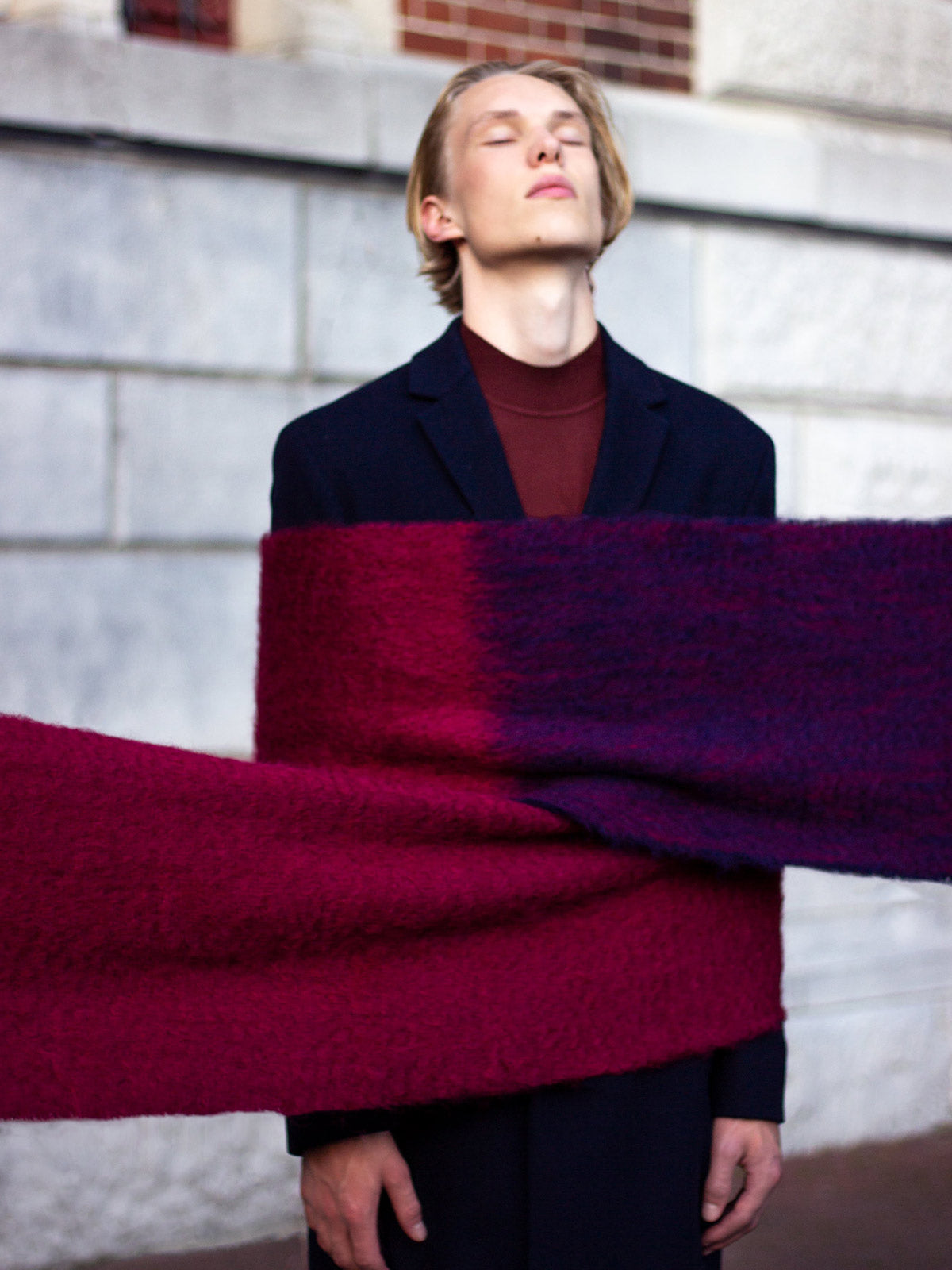 Oversized Mohair Scarf | No. 10