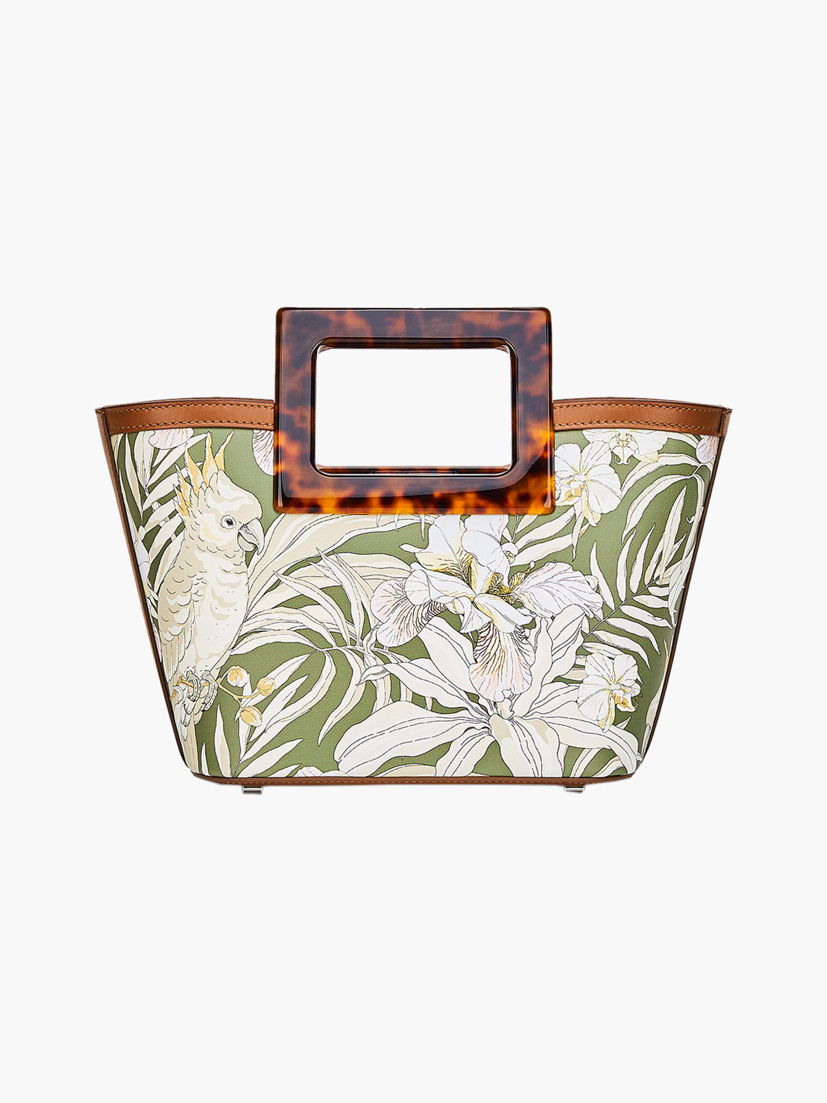 Micro Riviera Bag | Tropical Print and Turtle
