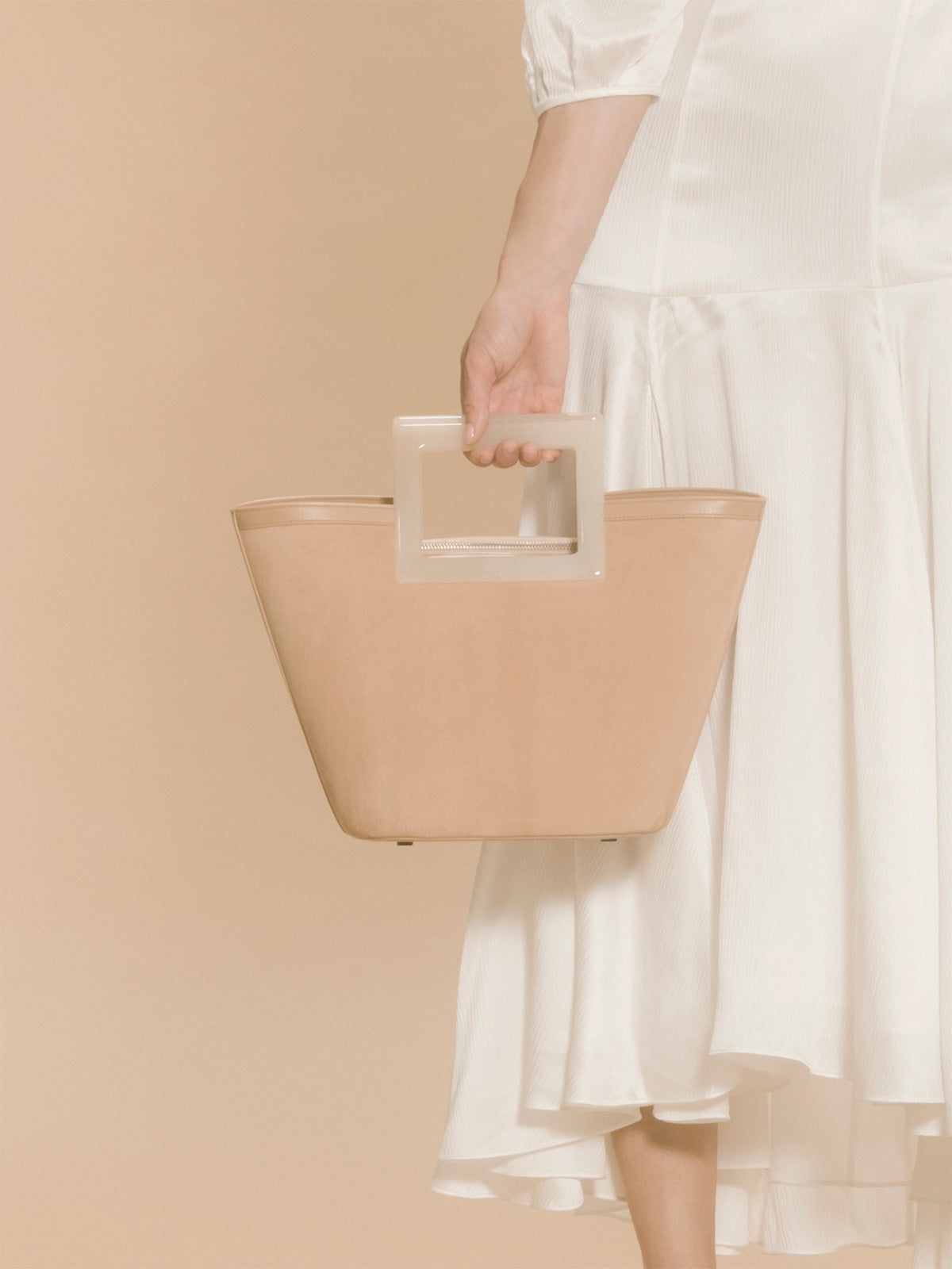 Mini Riviera Bag | Blush Suede and Ivory Horn