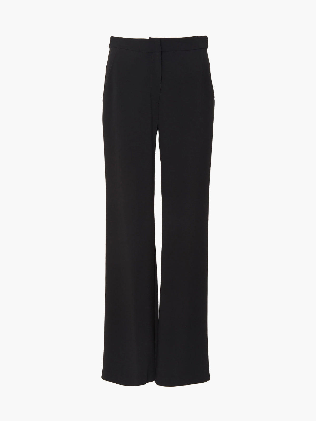 Flat Front Straight Leg Pant | Black Flat Front Straight Leg Pant | Black