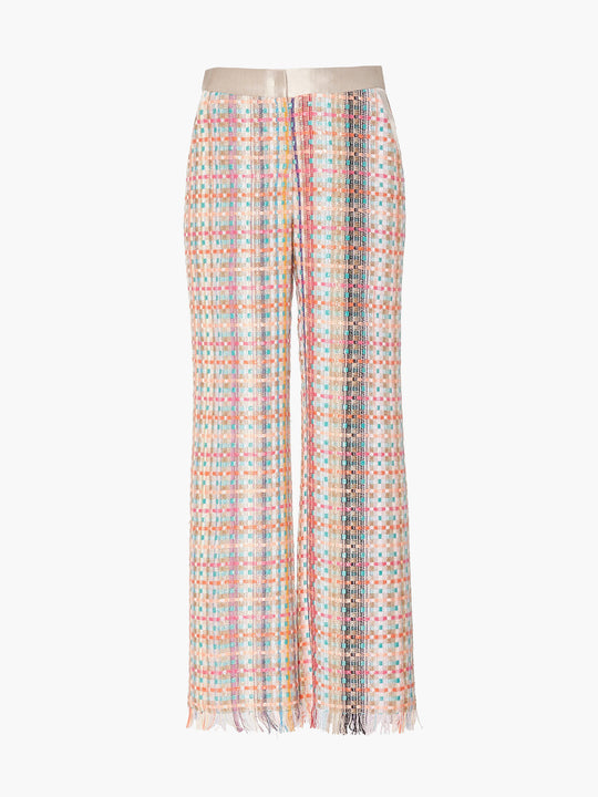 Flat Front Straight Leg Pant | Multicolor