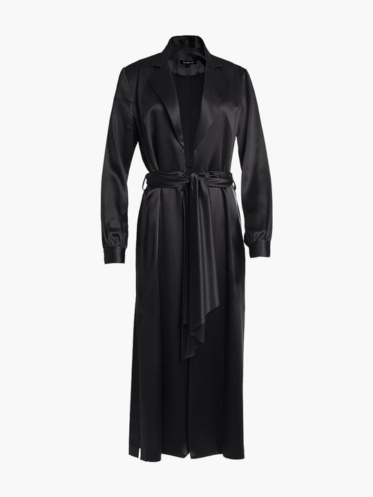 Long Sleeve Coat Dress | Black