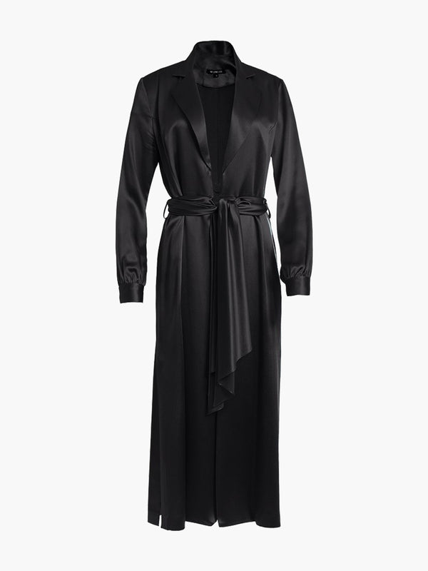 Long Sleeve Coat Dress | Black Long Sleeve Coat Dress | Black