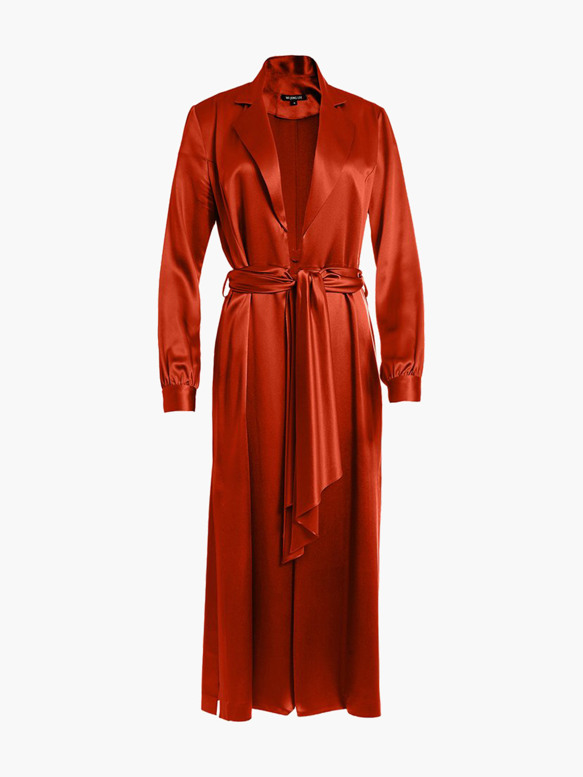 Long Sleeve Coat Dress | Burnt Orange