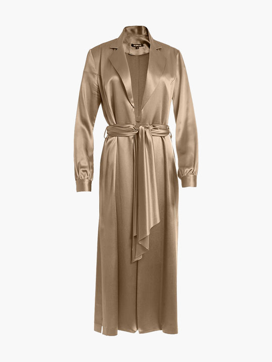 Long Sleeve Coat Dress | Champagne