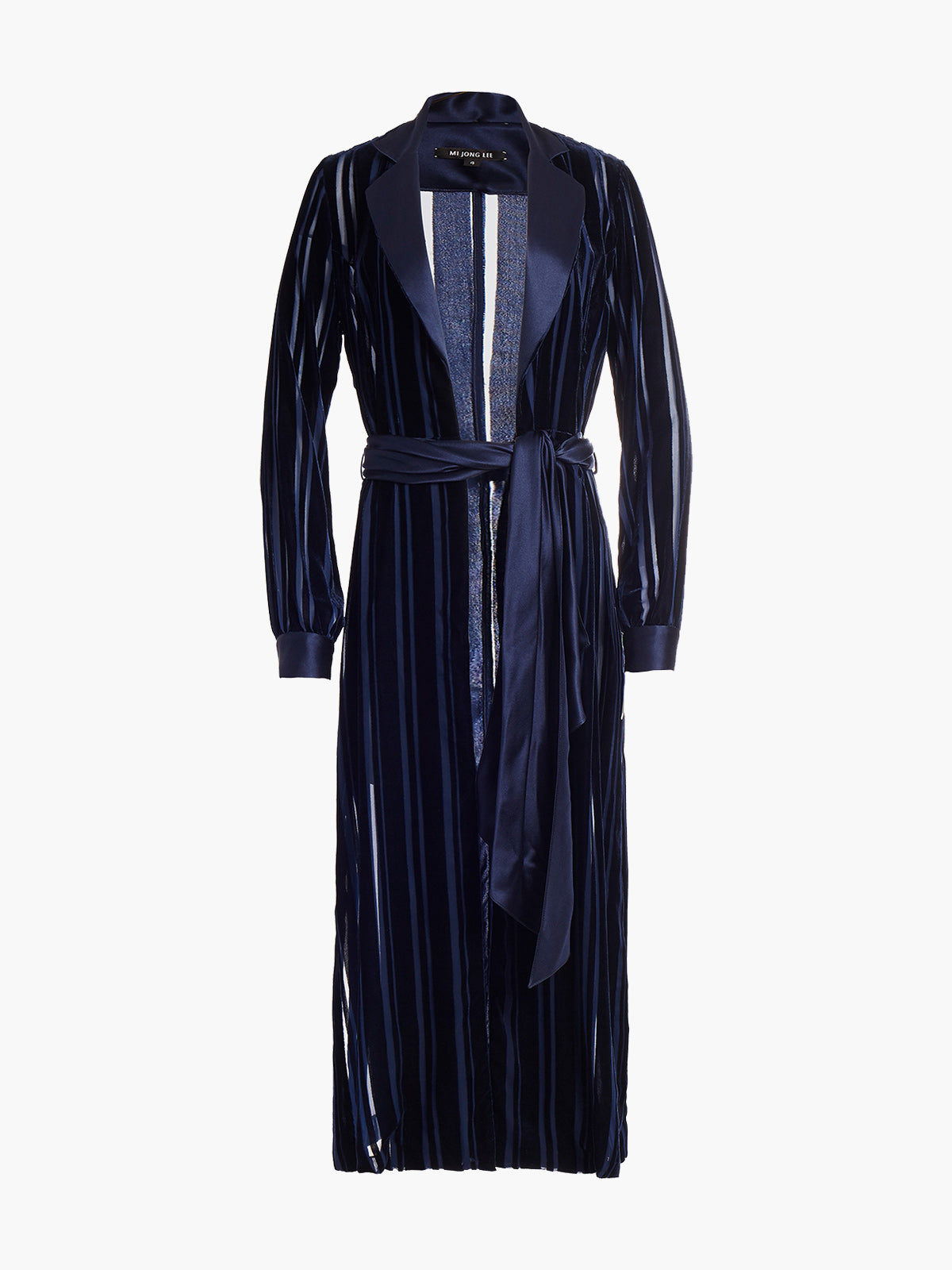 Long Sleeve Coat Dress | Marine Stripe