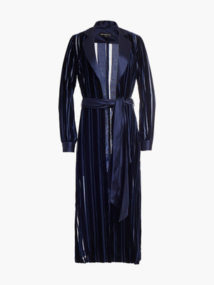 Long Sleeve Coat Dress | Marine Stripe Long Sleeve Coat Dress | Marine Stripe