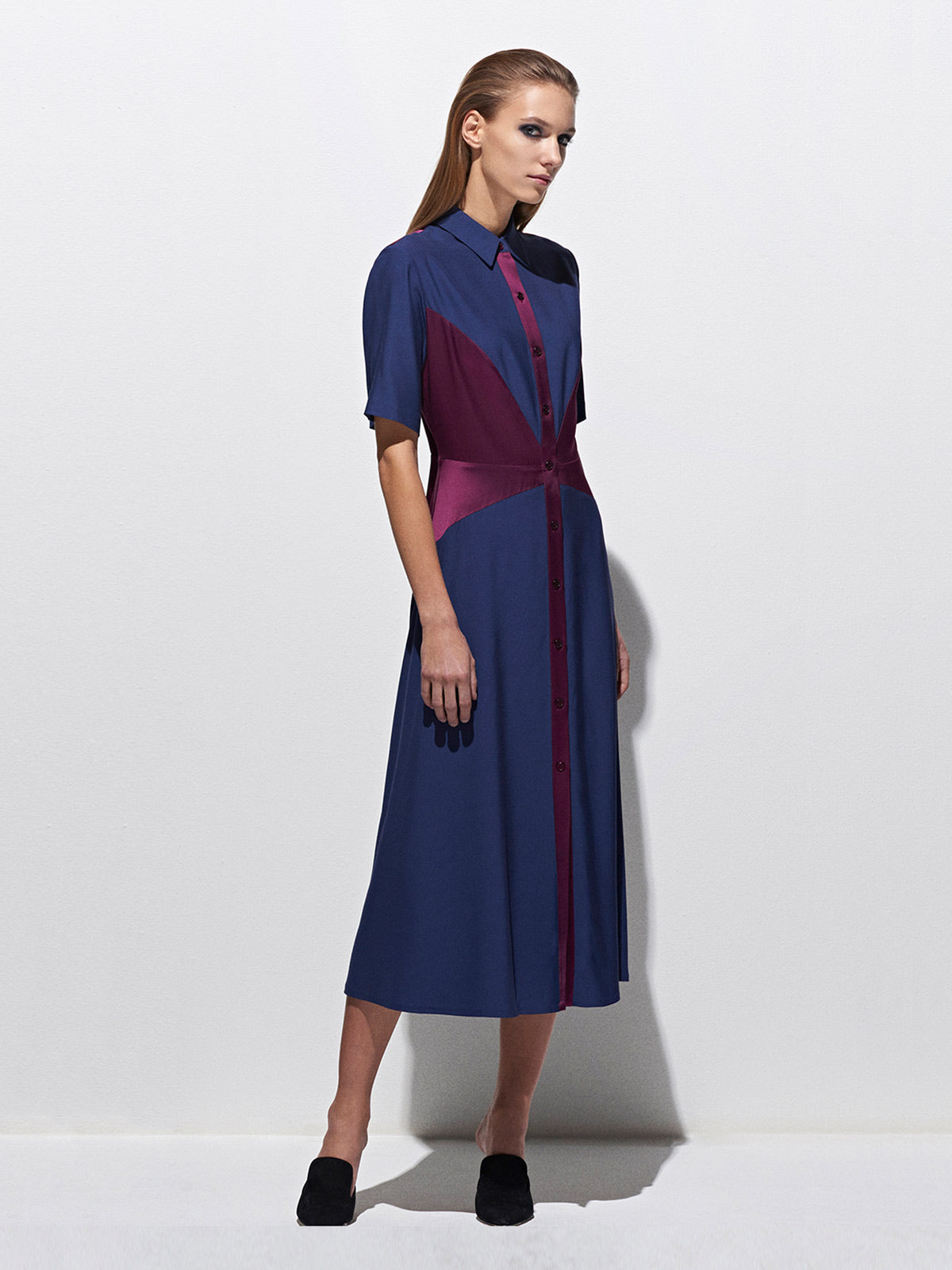 Shirt Dress | Marine