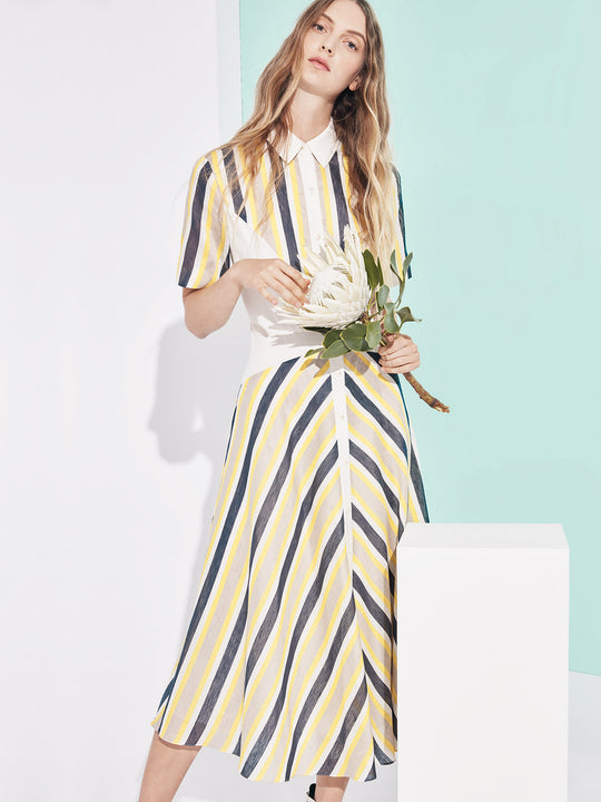 Shirt Dress | Yellow