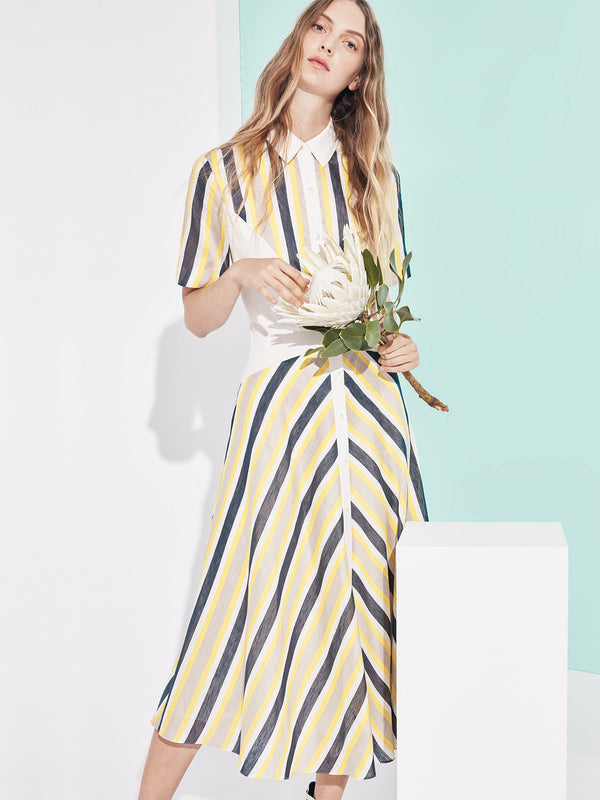 Shirt Dress | Yellow Shirt Dress | Yellow