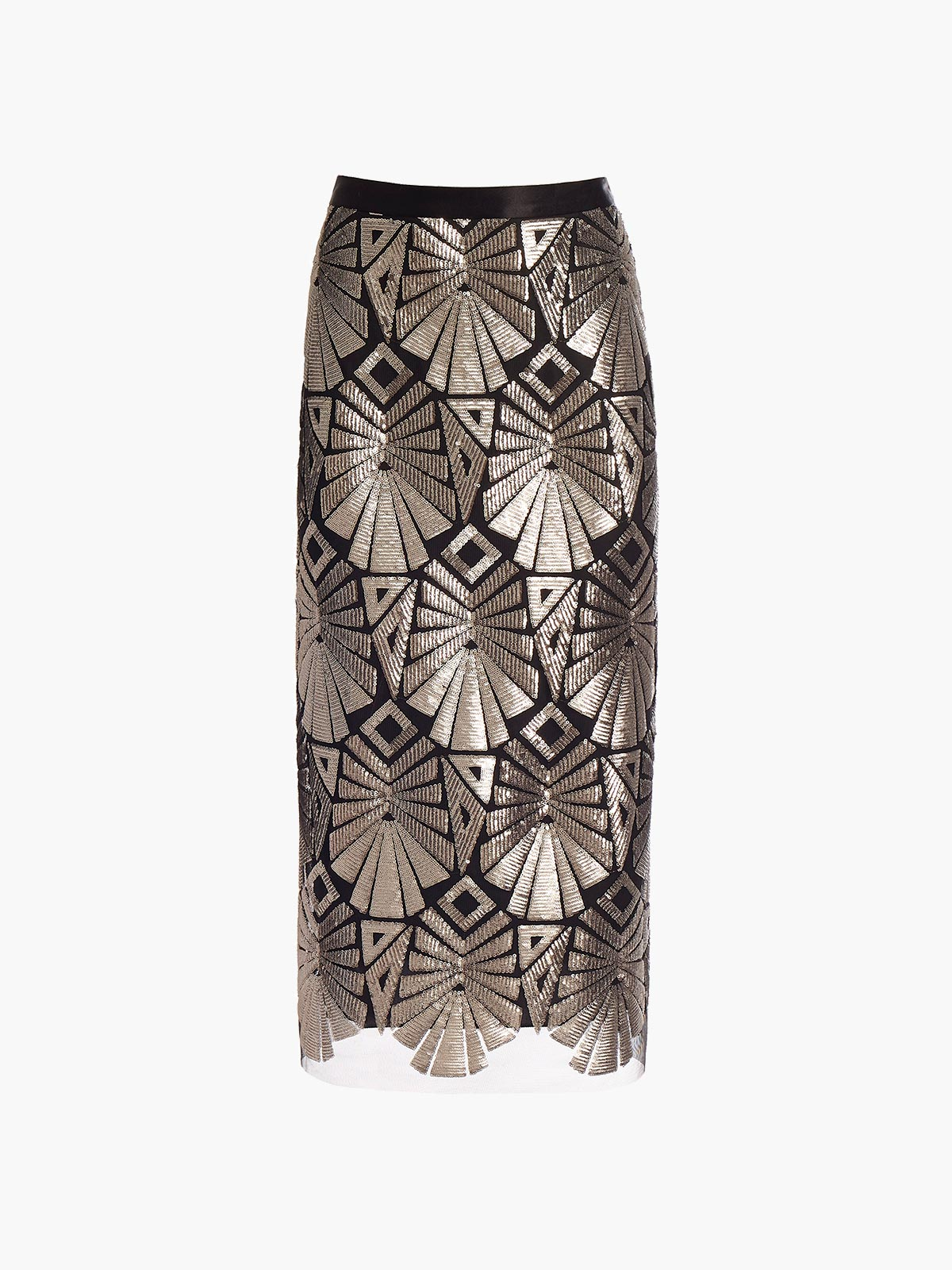 Straight Midi Skirt | Sequin