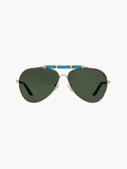 Exclusive Sunglasses | Turquoise/Orange