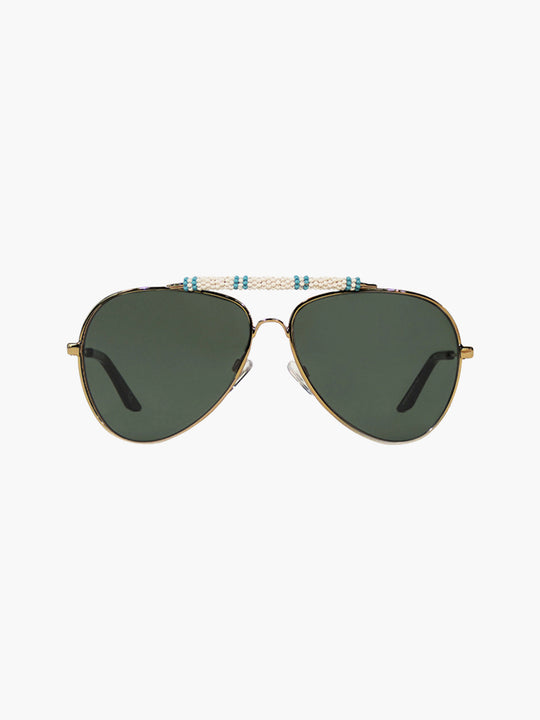 Exclusive Sunglasses | White/Light Blue