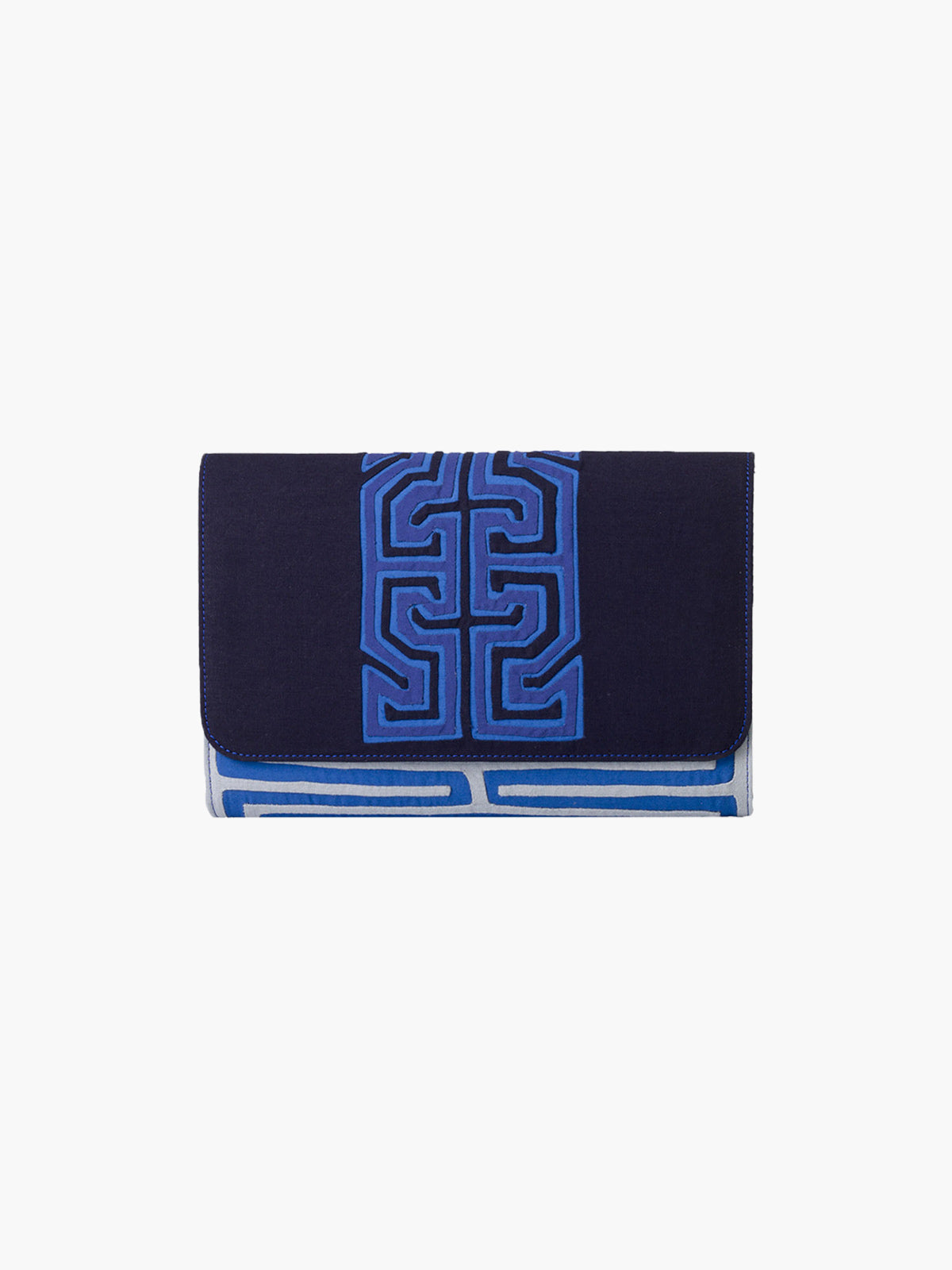 Medium Clutch | Sendero Indigo