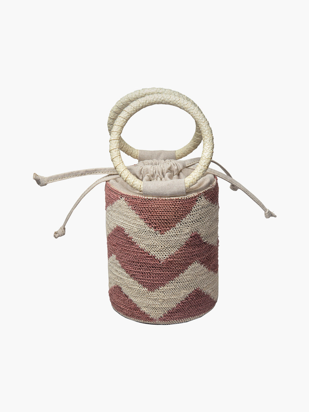 Cylinder Bag | Blush-Natural