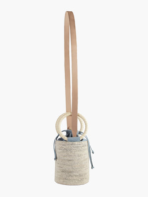 Cylinder Bag | Natural-Dusty Blue Cylinder Bag | Natural-Dusty Blue