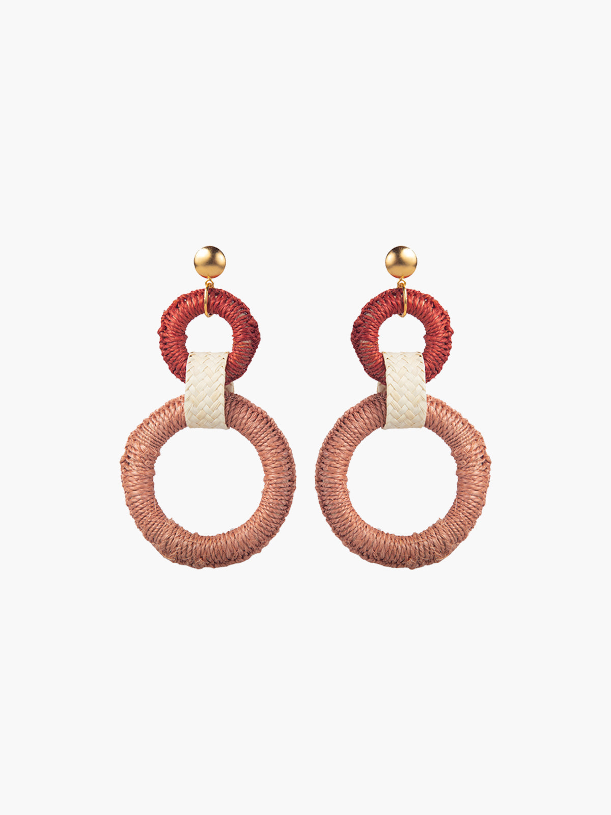 Double Maguey Hoops | Pink