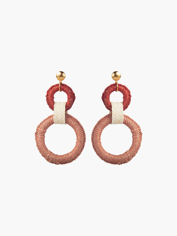 Double Maguey Hoops | Pink Double Maguey Hoops | Pink