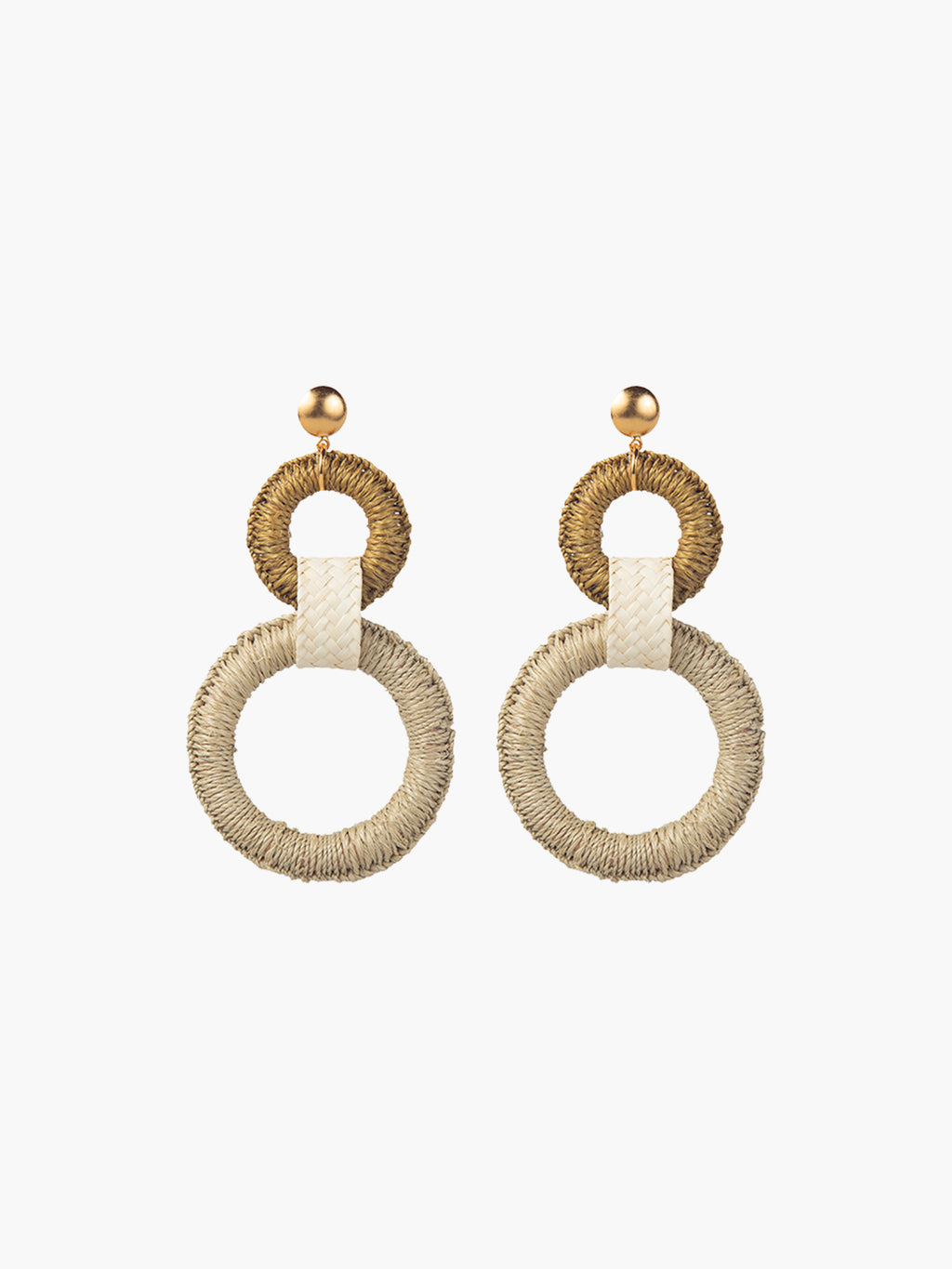 Double Maguey Hoops | Seafoam