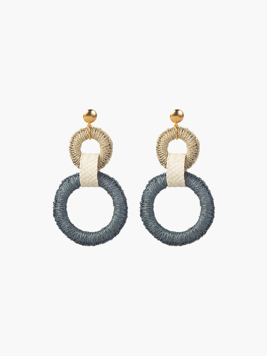 Double Maguey Hoops | Teal
