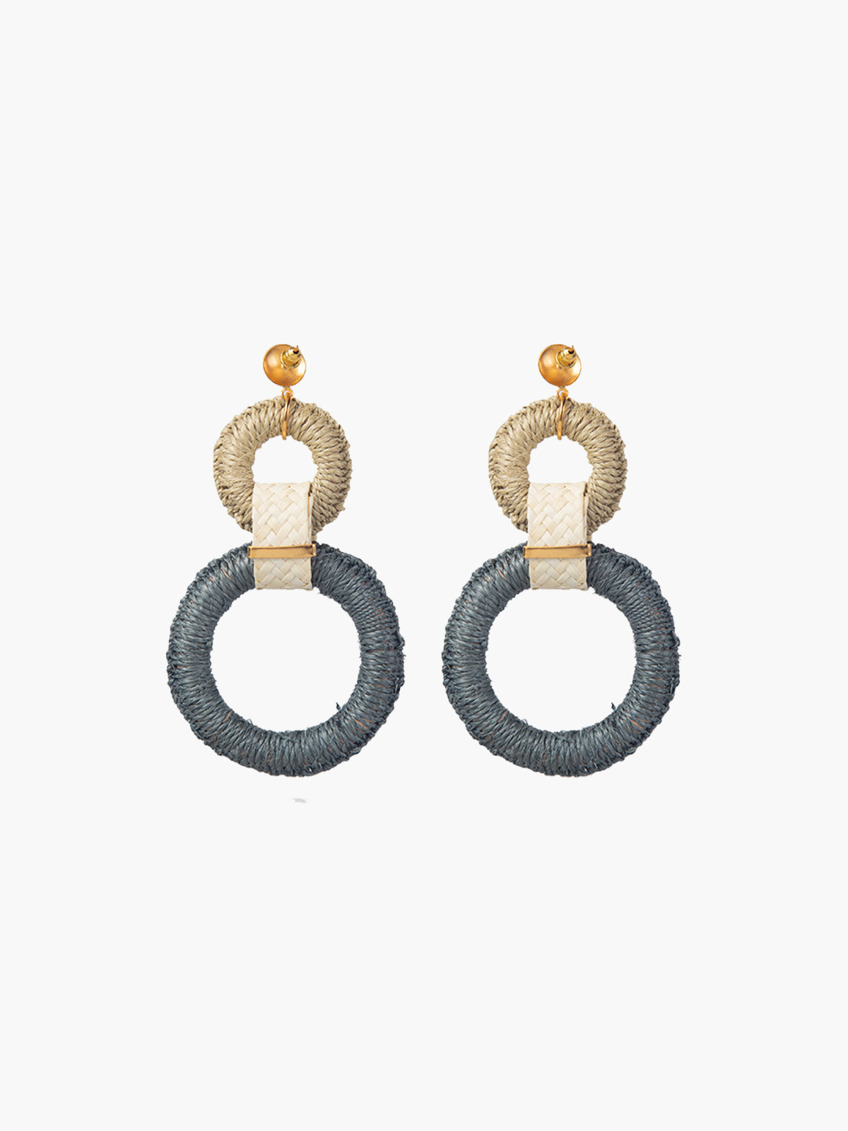 Double Maguey Hoops | Teal Double Maguey Hoops | Teal