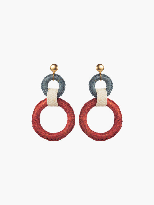 Double Maguey Hoops | Terracotta