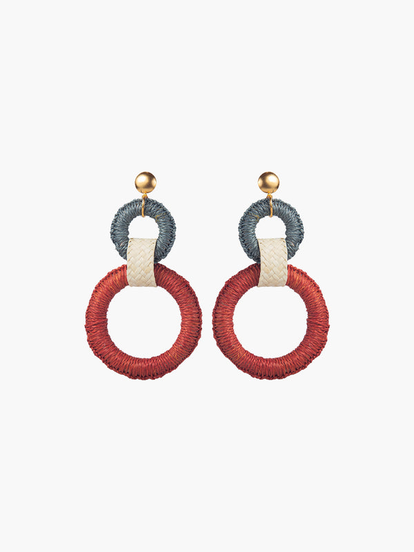 Double Maguey Hoops | Terracotta Double Maguey Hoops | Terracotta